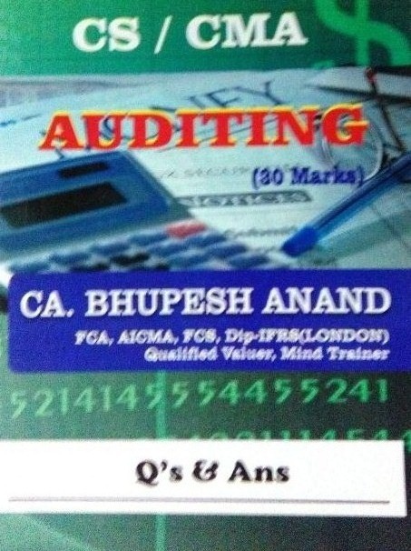 (CS/CMA)  Auditing
