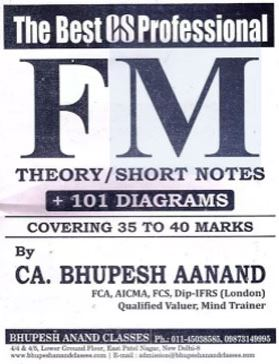 CS Professional - Financial, Treasury & Forex Mgt. Theory