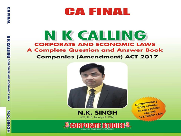 CA Final Corporate and Economic law Book